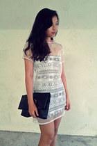 white diy organza dress