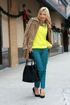 H&M coat - Old Navy sweater - DKNY bag - H&M pants - Zara heels