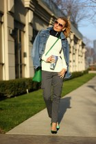 Tommy Hilfiger sweater - REPLAY jacket - Zara bag - Tommy Hilfiger pants
