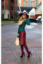 Jessica Simpson hat - Zara sweater - Zara bag - joe fresh style skirt