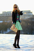 danier jacket - Topshop skirt