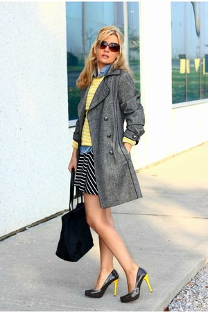 fervente coat - Old Navy dress - DKNY bag - Michael Kors sunglasses