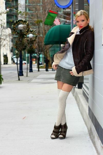 kensie shoes - soia&kyo jacket - Terranova skirt - Zara blouse