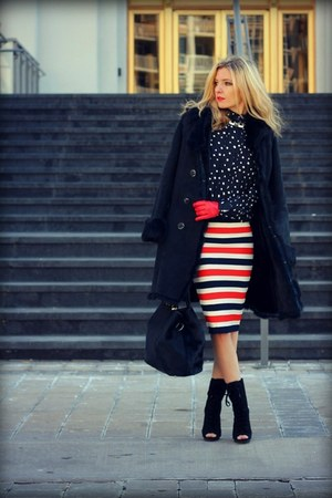 BCBG boots - DKNY bag - Juicy Couture skirt