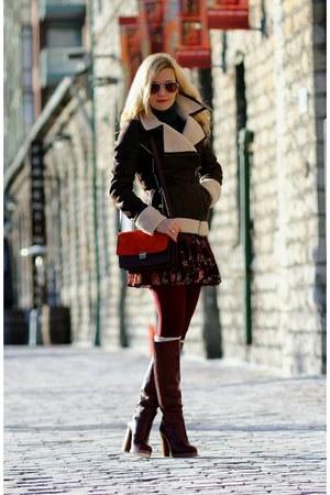soia & kyo jacket - Zara boots - Zara bag