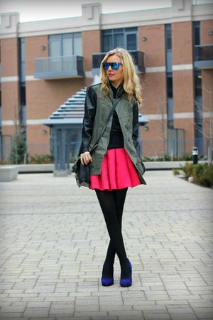 David Dixon shoes - Zara jacket - zaroUV sunglasses - Forever21 skirt