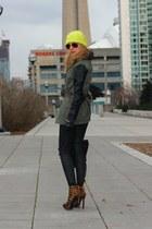 Zara jacket - Zara pants - Jessica Simpson heels - Levis belt