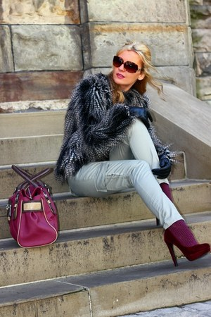 H&M coat - Guess bag - Michael Kors sunglasses - H&M heels