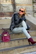 H&M coat - Guess bag - Michael Kors sunglasses - H&M heels