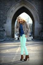 Zara jacket - Zara shirt - Michael Kors sunglasses - Jessica Simpson heels