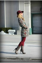 Zara coat - Jessica Simpson boots - H&M hat