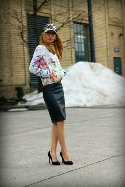H&M hat - H&M jacket - Zara skirt - Zara heels