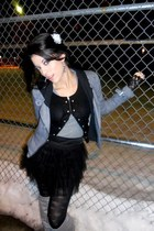 Forever 21 jacket - Forever 21 cardigan - Forever 21 skirt - Forever 21 tights -