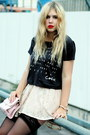 Gray-chanel-quote-tshirt-store-t-shirt-light-pink-romwe-bag