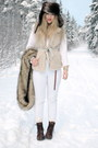 Ivory-jsfn-vest-white-vintage-pants-dark-brown-h-m-hat-light-brown-monki-s