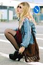 Black-modekungen-boots-sky-blue-denim-jacket-modekungen-jacket