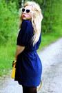 Navy-vintage-doortje-vintage-dress-yellow-satchel-romwe-bag