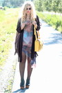 Galaxy-romwe-dress-black-transparent-acne-shirt-yellow-satchel-romwe-bag