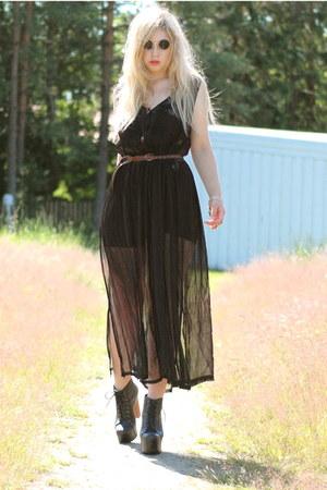 black transparent moms dress - black lennon 80spurple sunglasses