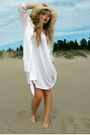 White-diana-orving-dress-white-h-m-shirt-beige-vintage-hat