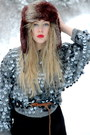 Silver-beyond-retro-sweater-black-acne-dress
