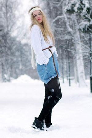 vintage sweater - vintage shorts