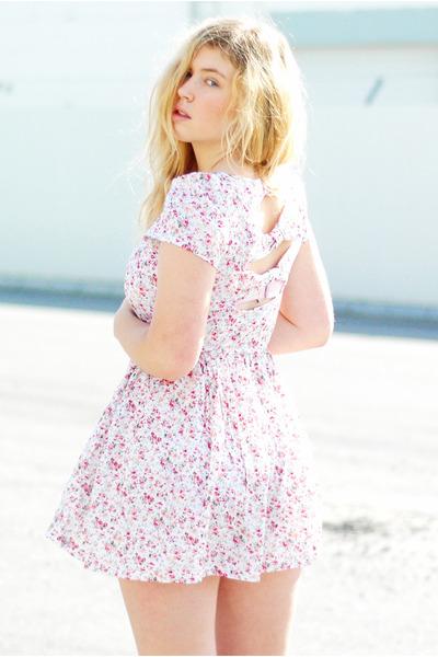 light pink open back ClubCouture dress