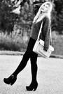 Black-platform-modekungen-boots-charcoal-gray-knitted-zara-sweater