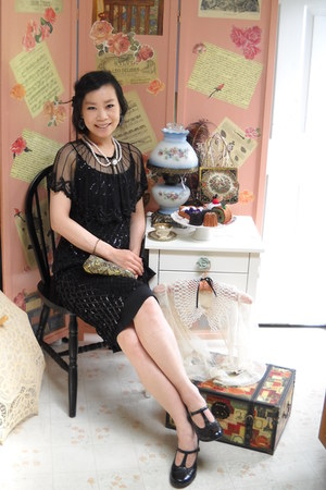 black vintage from etsycom shoes - black dress