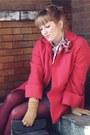 Amethyst-heathered-sally-jane-vintage-dress-hot-pink-allen-co-vintage-jacket-