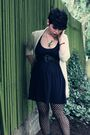 White-pins-and-needles-cardigan-blue-h-m-dress-black-love-21-stockings-blu