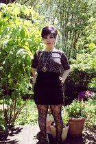 pink Silent  Noise top - black Forever 21 skirt - black Loverver 21 stockings