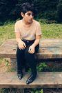 Beige-american-apparel-shirt-black-vans-leggings-black-thrifted-shoes