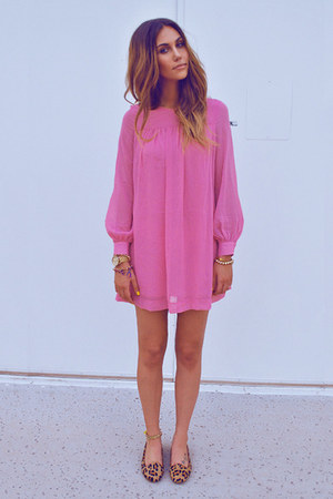 mustard Jeffrey Campbell flats - bubble gum H&amp;M dress - gold Forever21 bracelet