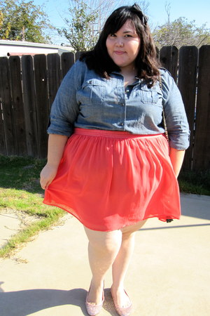 coral flowy chiffon asos skirt - light pink alice  olivia for Payless flats