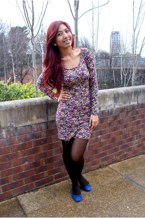 flowery dress H&M dress - blue Primark flats