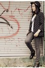 Charcoal-gray-jc-penny-jeans-black-thrifted-hat-black-forever-21-blazer