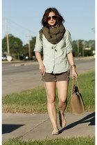 army green magaschoni scarf - camel Matt Bernson shoes