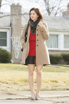J Crew coat - Gucci scarf - Jimmy Choo purse - kate spade wedges - J Crew skirt