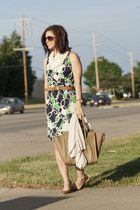 navy tory burch dress - burnt orange J Crew heels