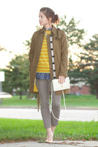 J Crew shoes - Burberry jacket - J Crew sweater - J Crew shirt - Givenchy purse