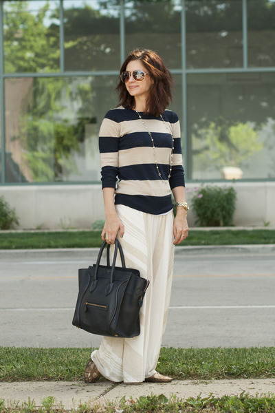Anthropologie skirt - J Crew sweater