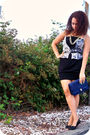 Blue-top-white-diy-skirt-beige-pierre-hardy-for-gap-shoes-gold-mothers-bel
