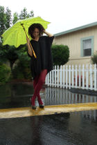 black Bambooska dress - red Target tights - black Steve Madden shoes