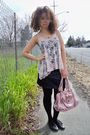 Black-forever21-dress-pink-forever-21-top-blue-ralf-lauren-jacket-blue
