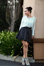 Heather-gray-lush-sweater-black-h-m-skirt-charcoal-gray-wild-doll-heels