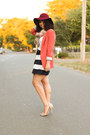 Navy-jcrew-skirt-crimson-vintage-hat-burnt-orange-forever-21-blazer