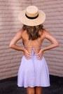 Periwinkle-cotton-lush-dress-beige-straw-bp-nordstrom-hat