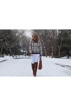 bronze wool JOA sweater - bronze faux leather Charlotte Russe boots
