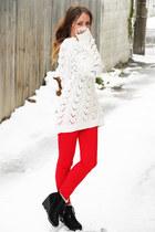 red Glassons jeans - black Michael Kors boots - MinkPink jumper